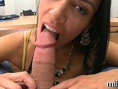 Engulfing cock delights mother i'd like to fuck