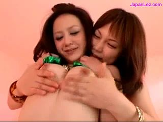 Asian Girls Sucking Nipples One Of Them Getting Her