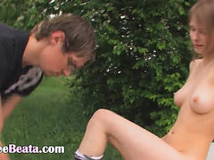 18yo russian coed fucked on the car