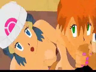 Above pokemon ash and misty porn