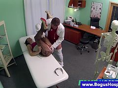 Fake doctor pussy eating patient