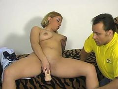 Thick euro blonde lady auditioning