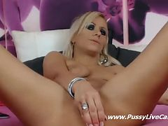 Webcam Blonde Sprinkles Hot Piss After Dildo Masturbation - PussyLiveCam.com