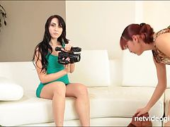 Two amateur sluts eat their sweet twats and talk filthy to each other and the camera during audition