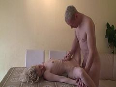 Skinny Babe Gets Fucked On The Table