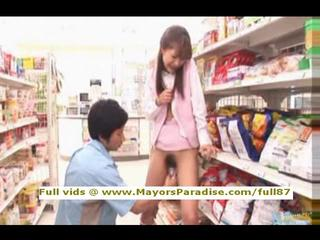 Porn asian in supermarket