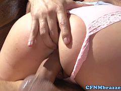 Hot femdom babes riding dick together