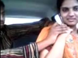 Magnificent Nude collage girl in car think